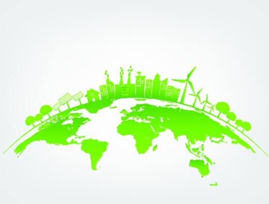 Image depicting a green sustainable earth